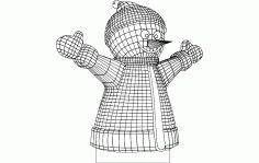 Happy Snowman Free DXF File