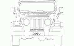 Jeep Front Free DXF File