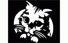 Kitty Cat Free DXF File