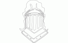 Knight Helmet Free DXF File