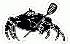 Lacrosse Silhouette Free DXF File
