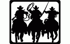 Laworder Cowboy Silhouette Free DXF File