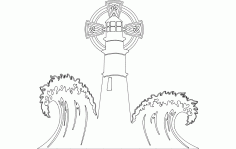 Lighthouse With Waves Free DXF File