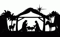 Md Nativity Full Silhouette Free DXF File