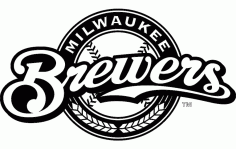 Milwaukee Brewers Logo Free DXF File