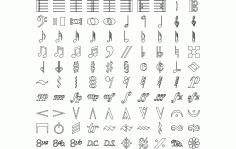 Music Symbols Free DXF File