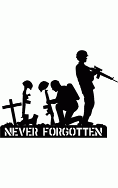 Never Forgotten Silhouette Free DXF File