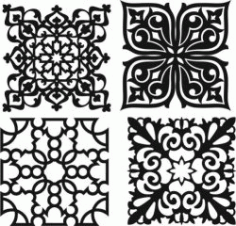 Beautiful Decorative Pattern For Laser Cut Cnc Free DXF File