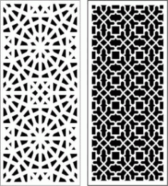 Beautiful Living Room Baffle Pattern For Laser Cut Cnc Free DXF File