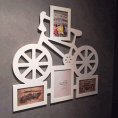 Bicycle Photo Frame For Laser Cut Cnc Free DXF File