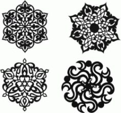 Decorative Motifs Circle For Laser Cut Plasma Free DXF File