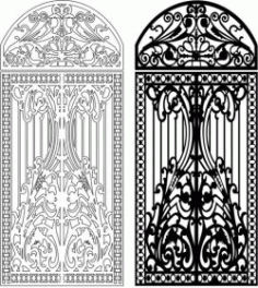 Design Of Iron Arches For Laser Cut Cnc Free DXF File