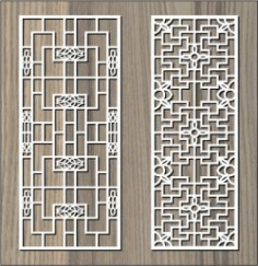 Folded Pattern Interlaced For Laser Cut Cnc Free DXF File