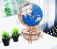 Globe Model For Laser Cut Cnc Free DXF File