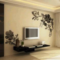 Living Room Floral Pattern For Laser Cut Cnc Free DXF File