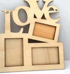 Love Photo Frames For Laser Cut Cnc Free DXF File