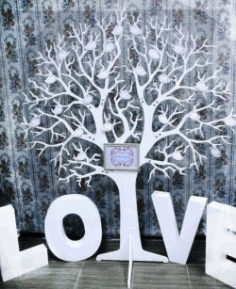 Love Tree For Laser Cut Cnc Free DXF File