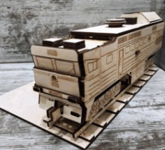 Train Model For LaserCut Cnc Free DXF File