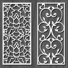 White Flower Bulkhead For Laser Cut Cnc Free DXF File