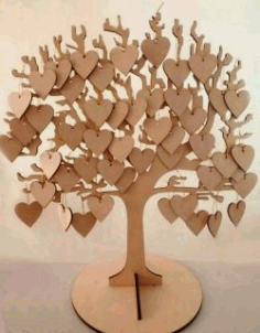 Wish Tree For Laser Cut Cnc Free DXF File