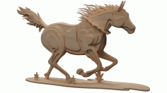Wooden Horse For Laser Cut Cnc Free DXF File