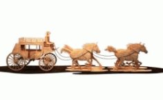 Wooden Stagecoach For Laser Cut Cnc Free DXF File