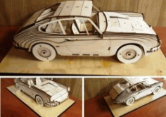 4 Seat Car Model For Laser Cut Cnc Free DXF File