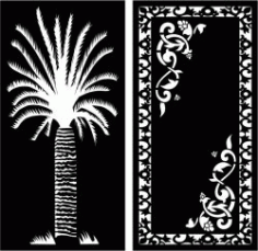 Date Palm Partition For Laser Cut Cnc Free DXF File