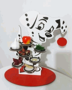 Dog Cupcake Holder For Laser Cut Free DXF File
