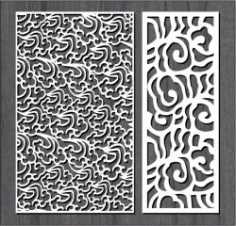 Fire Smoke Pattern Design For Laser Cut Cnc Free DXF File