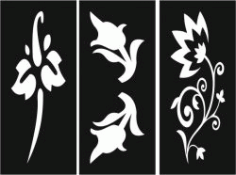 Flower Decorated Baffles For Laser Cut Cnc Free DXF File