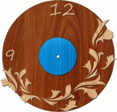 Lily Shaped Clock For Laser Cut Plasma Free DXF File