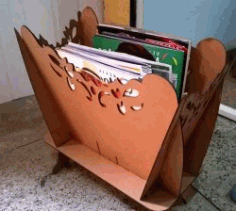 Magazine Shelf For Laser Cut Free DXF File