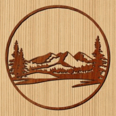 Northern Mountain Forest For Laser Cut Cnc Free DXF File
