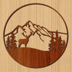 The Moose Holds The Forest For Laser Cut Cnc Free DXF File