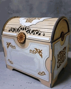 Jewelry Box For Laser Cut Cnc Free CDR Vectors Art