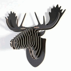 3d Puzzle Deer Head For Laser Cut Cnc Free DXF File