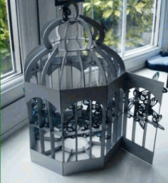 Bird Cage For Laser Cut Cnc Free DXF File