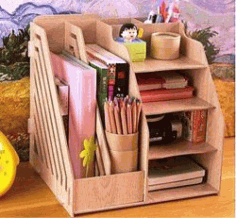 Book Desk Organizer For Laser Cut Cnc Free DXF File