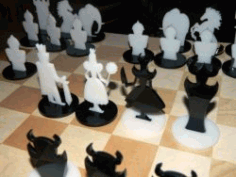Chess For Laser Cut Free DXF File