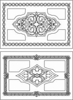 Creative Rectangular Decorative Motifs For Laser Cut Cnc Free DXF File
