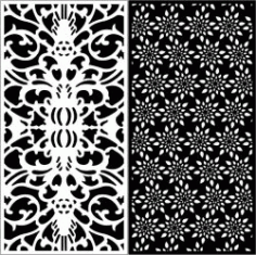 Design Pattern Panel Screen k9 For Laser Cutting Cnc Free DXF File