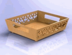 Fruit Basket For Laser Cut Cnc Free DXF File