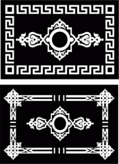Islamic Rectangle Texture For Laser Cut Cnc Free DXF File