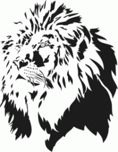 Lion Head For Laser Engraving Machines Free DXF File
