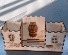 Owl Pen Holder For Laser Cut Cnc Free DXF File