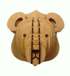Panda Head For Laser Cut Cnc Free DXF File