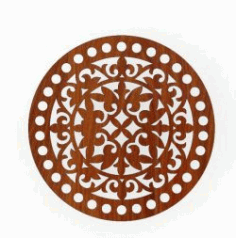 Round Tray Pattern For Laser Cut Cnc Free DXF File