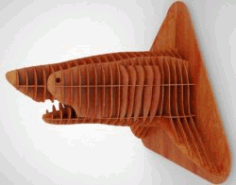 Shark Head For Laser Cut Cnc Free DXF File