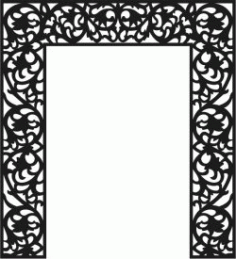 The Pattern Of The Partition Of The Altar For Laser Cut Cnc Free DXF File